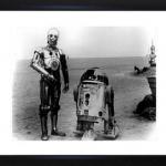 Un cadre photo de R2D2 et de C3PO