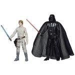 Deux figurines représentant Dark Vador et Luke Skywalker