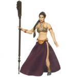 Une figurine de la princesse Leia en tenue d'esclave