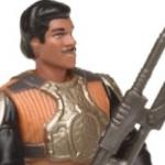 Figurine de Lando Calrissian habillé en garde Skiff