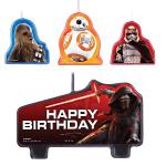 7 bougies d'anniversaire StarWars