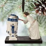 Décoration de Noël RD2D et Princesse Leia