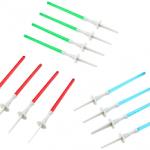 Bougies de gateaux en forme de mini sabre laser