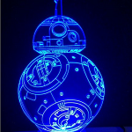 Lampe de table LED 3D BB-8