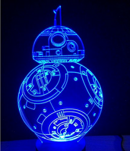 lampe led 3D table bb8