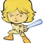 Led murale 3D Luke Skywalker