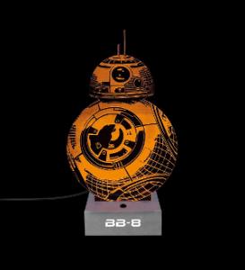 lampe starwars effet 3d bb8