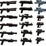 Ensemble d'armes blaster en légo