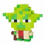 Autocollant 3D pixel Yoda