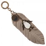 Porte-clés en plume oiseau Porg