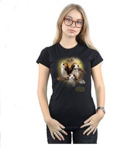 Tshirt femme Porg Dernier des Jedis