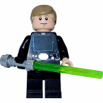Mini figurine Légo Luke Skywalker avec son sabre laser