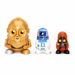 Collection de figurines Z6PO, R2D2 et Jawa