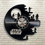 Horloge murale disque vinyle Starwars