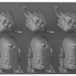 Bac à glaçons maître Yoda – R2D2